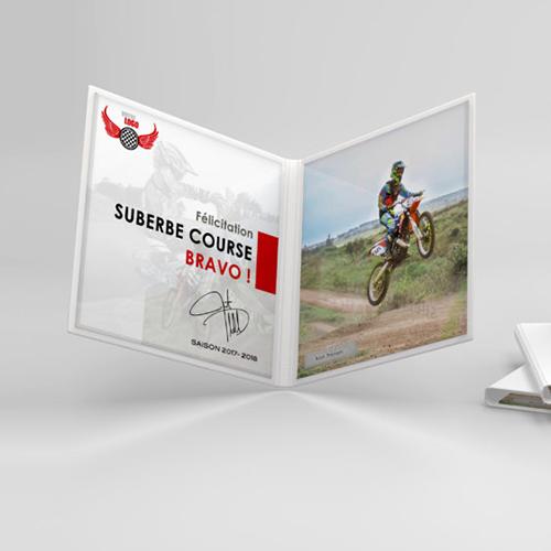 Trophée personnalisé moto cross